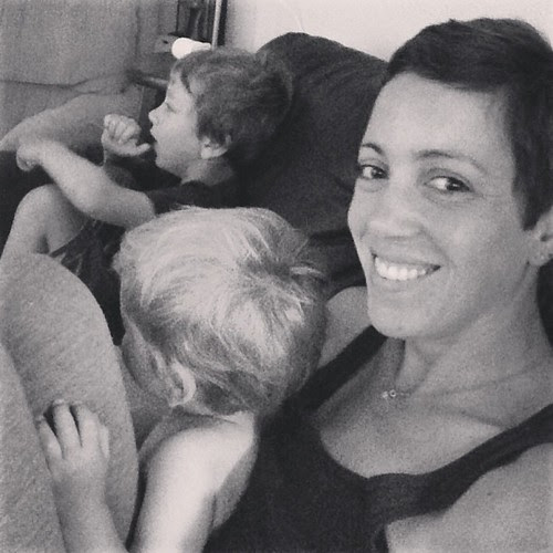 Rainy morning snuggled on the couch with my littles.
