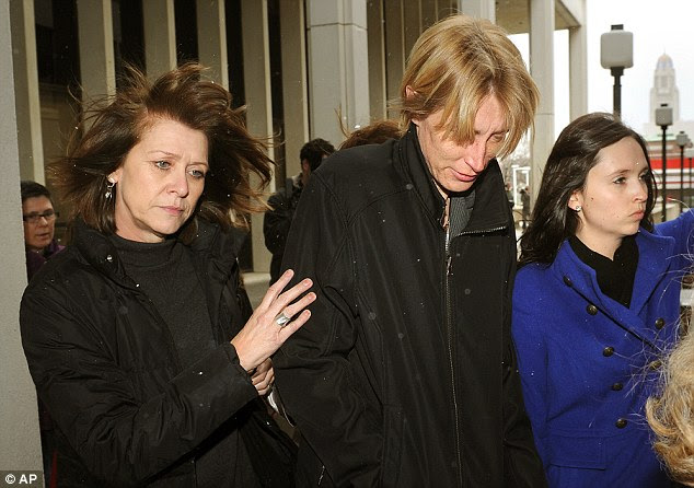 No show: Charlie Rogers (center) didn't show up for her 90-day jail sentence Thursday after failing to complete all the terms of her probation. She is seen here leaving court in 2013