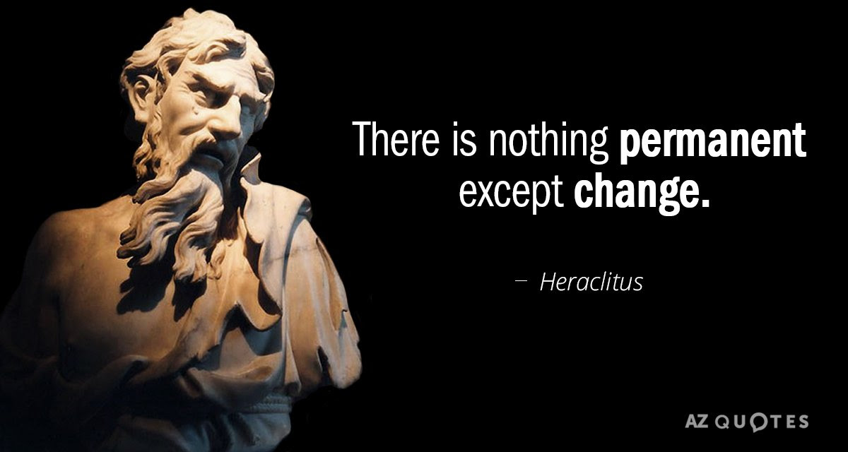 Heraclitus Quote There Is Nothing Permanent Except Change