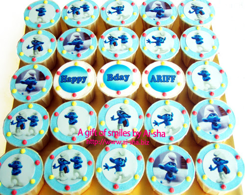 Birthday Cupcakes Edible Image The Smurfs