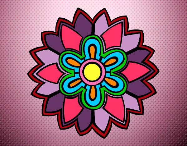 Dibujo De La Flor De La Vida Pintado Por Chica2000 En Dibujosnet El