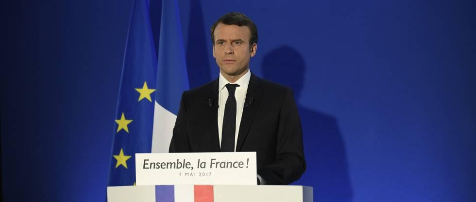 Emmanuel Macron, ganador de las presidenciales francesas