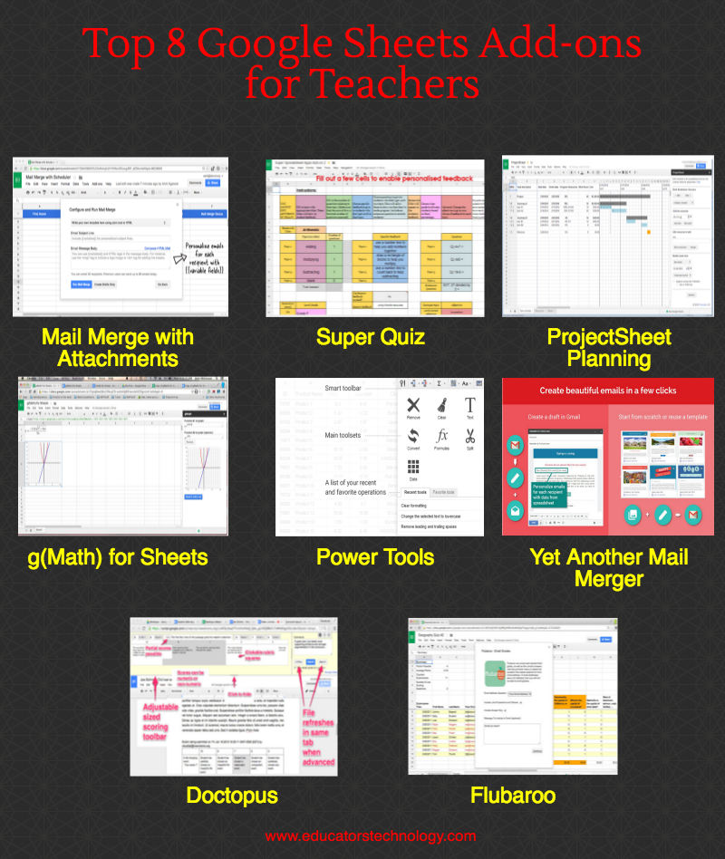 Top Educational Google Sheets Add-ons in 2016