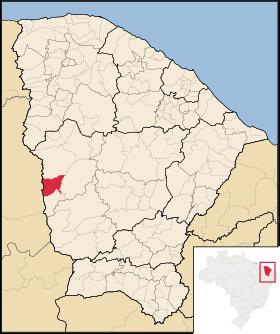 Localização de Novo Oriente
