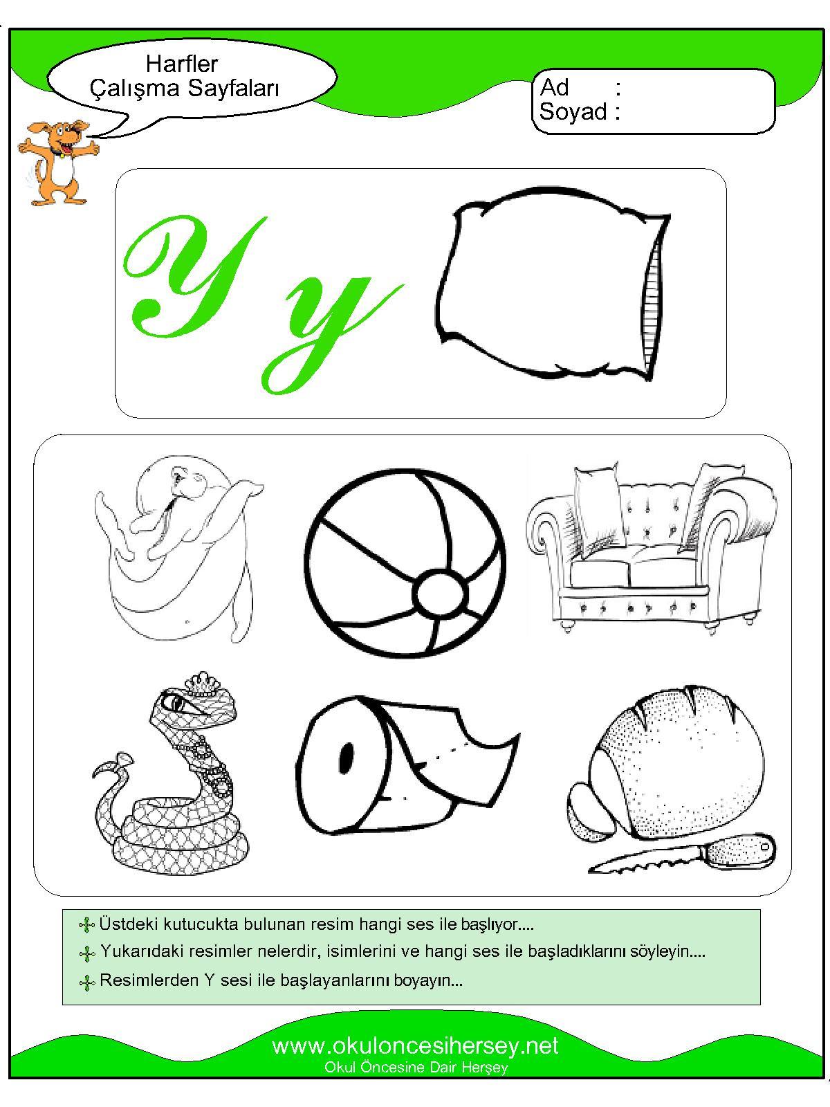 Y Sesi çalışma Sayfaları