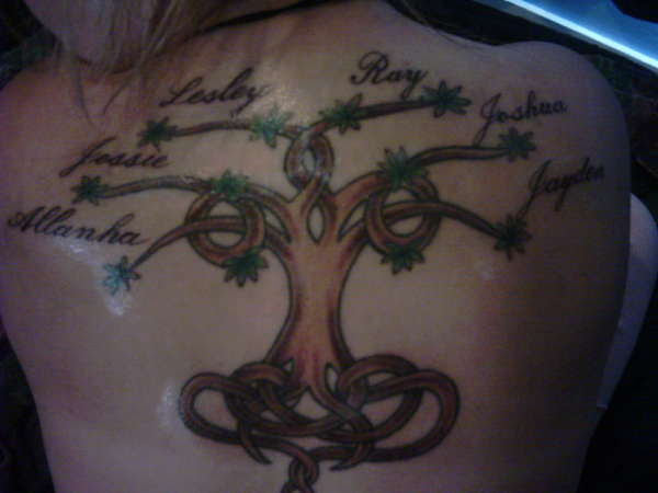 Celtic Family Tree Tattoo For Back In 2017 Real Photo Pictures