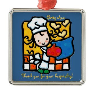 Little Girlie cooks with love ornament