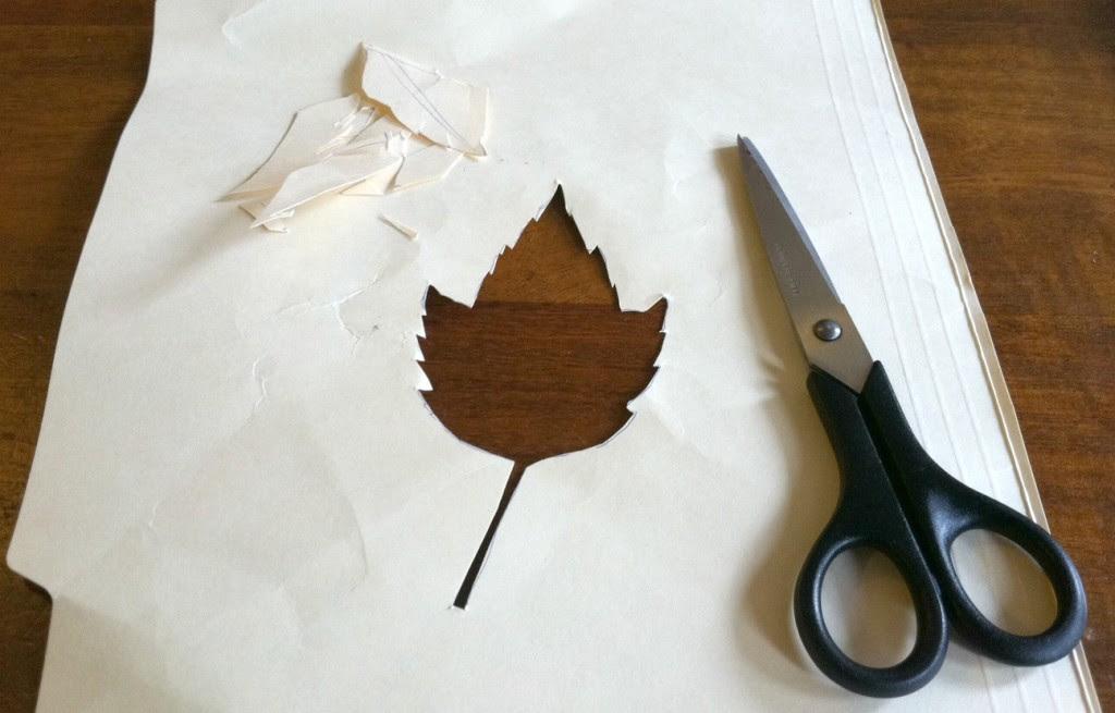 Leaf stencil cut