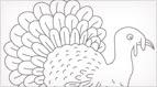 Free Hand Embroidery Pattern: Turkey!
