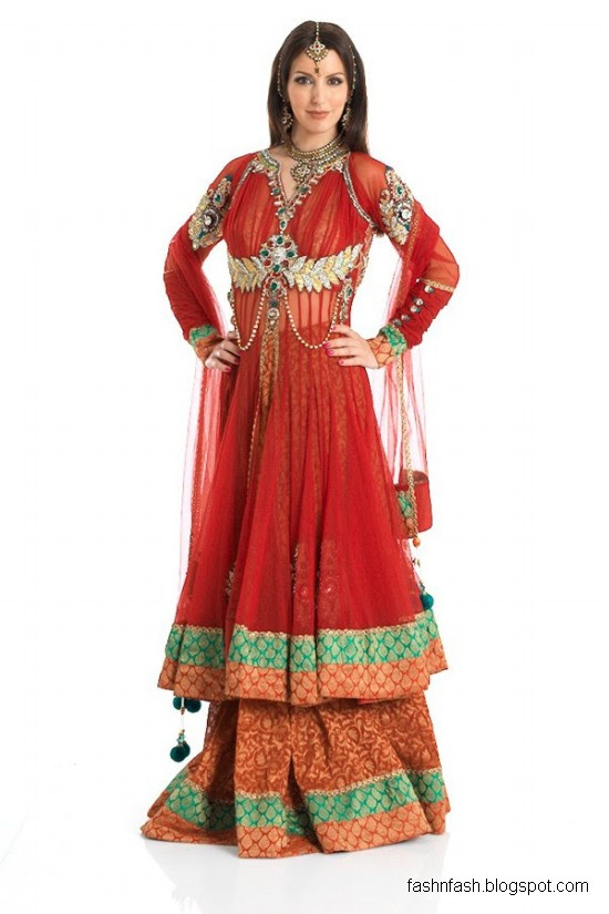 Anarkali-Frocks-in-Double-Shirts-Style-Double-Shirt-Dresses-2012-2013-2