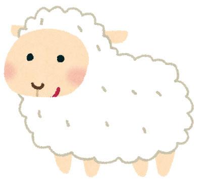 フリー素材 可愛い子羊をデザインしたイラスト手書き感のあるタッチ