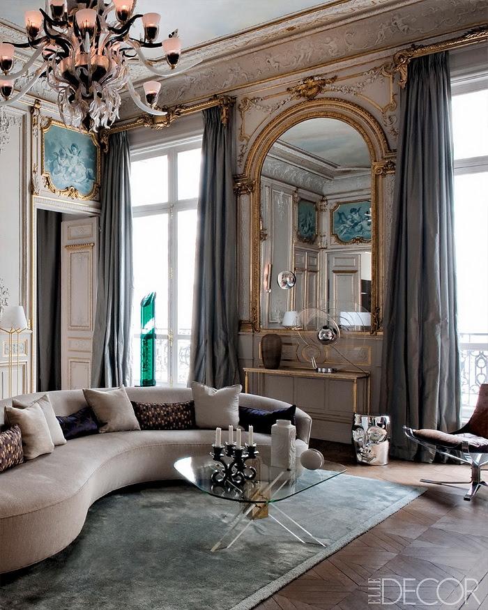 Elle Decor retornar à forma um apartamento em Paris Moderna 1