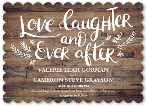 Love And Laughter Forever Wedding Invitations   Shutterfly