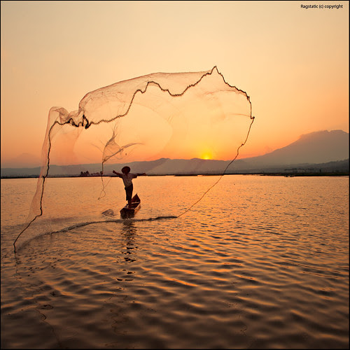 Local Fisherman at work por Ragstatic