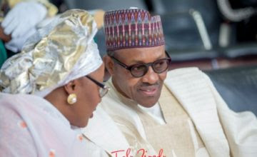 Image result for images of buhari and wife aisha
