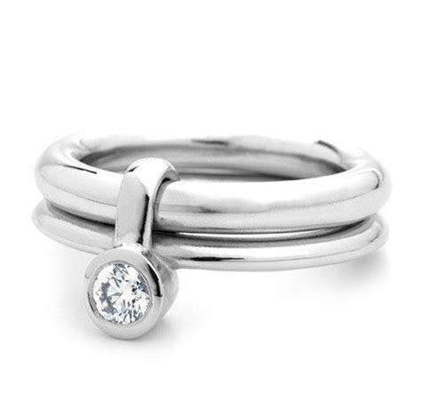 Contemporary Platinum and Diamond Ring in 2019   BIZOUS DE