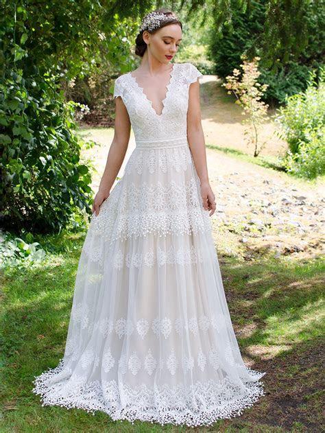 Boho lace wedding dress 5001