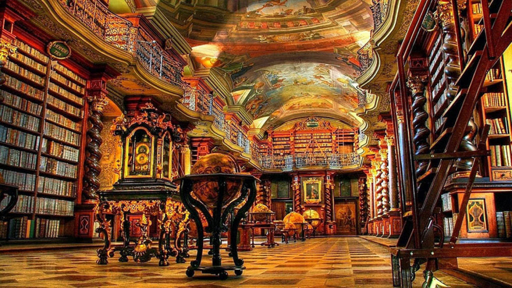 A mais bela biblioteca do mundo fica em Praga 07