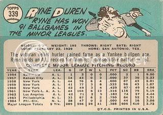 #339 Ryne Duren (back)