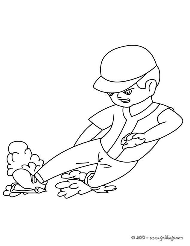 Dibujos Para Colorear Un Jugador De Beisbol Eshellokidscom