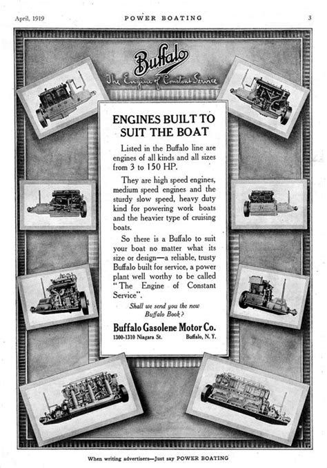 Buffalo Gasolene Motor Co. - 1919 Ad-Buffalo Gasolene