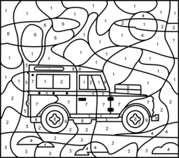 5000 Number Coloring Pages Cars For Free