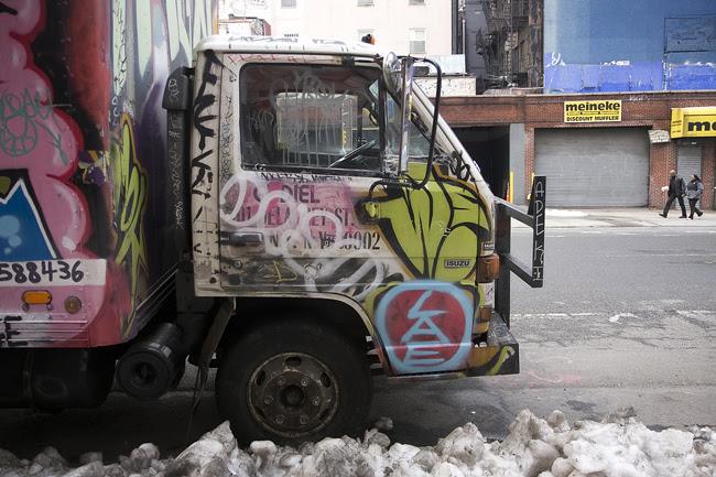 Truck graffiti, East Village