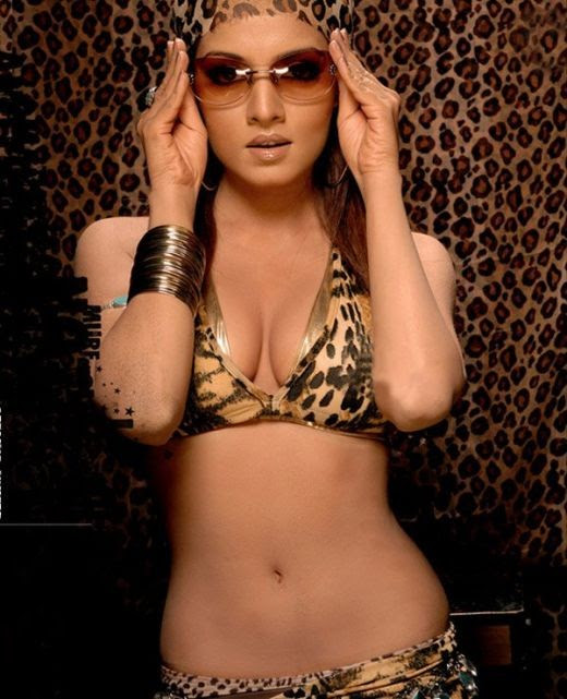 World Travel Celina Jaitley Hot Cleavage Photos In Bikini -8064