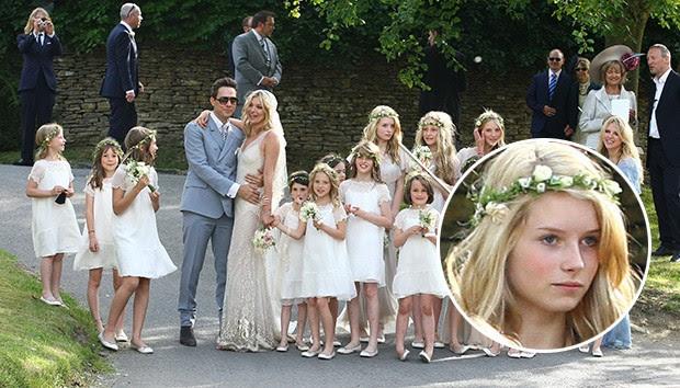 Lottie Moss no casamento de Kate Moss julho 2011 (Foto: Agência Getty Images)