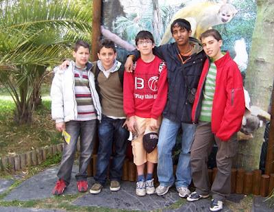 Algunos participantes en Faunia