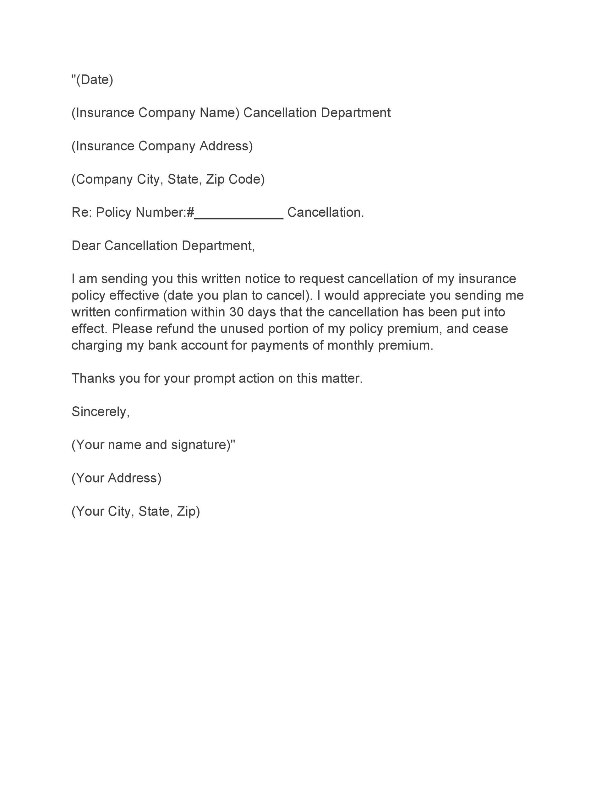Dd Cancellation Letter Format Download - template resume