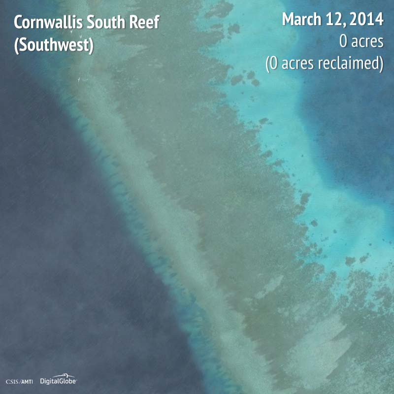 Cornwallis South Reef (Southwest) 2014 | 0 acres reclaimed
