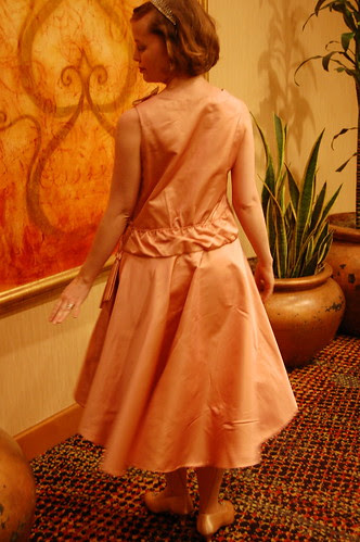Pink and gold 1923 dress