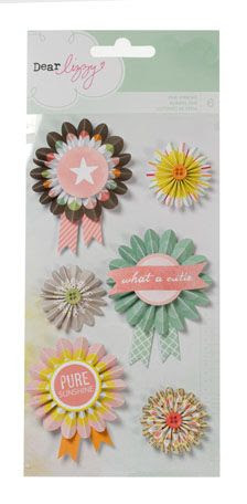 American Crafts - Dear Lizzy Neapolitan Collection - Fair Ribbons at Scrapbook.com $4.99