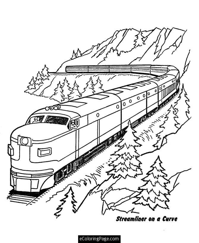 Train Coloring Pages | 820x670