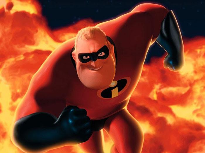 Além de ser um super-herói, o Sr. Incrível ainda tem que cuidar de sua família formada pela esposa Mulher-Elástica e os filhos Flecha, Violeta e Zezé