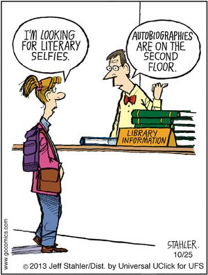 Literary Selfies.....and the language continues to change. Is there any wonder that learning is sometimes difficult?