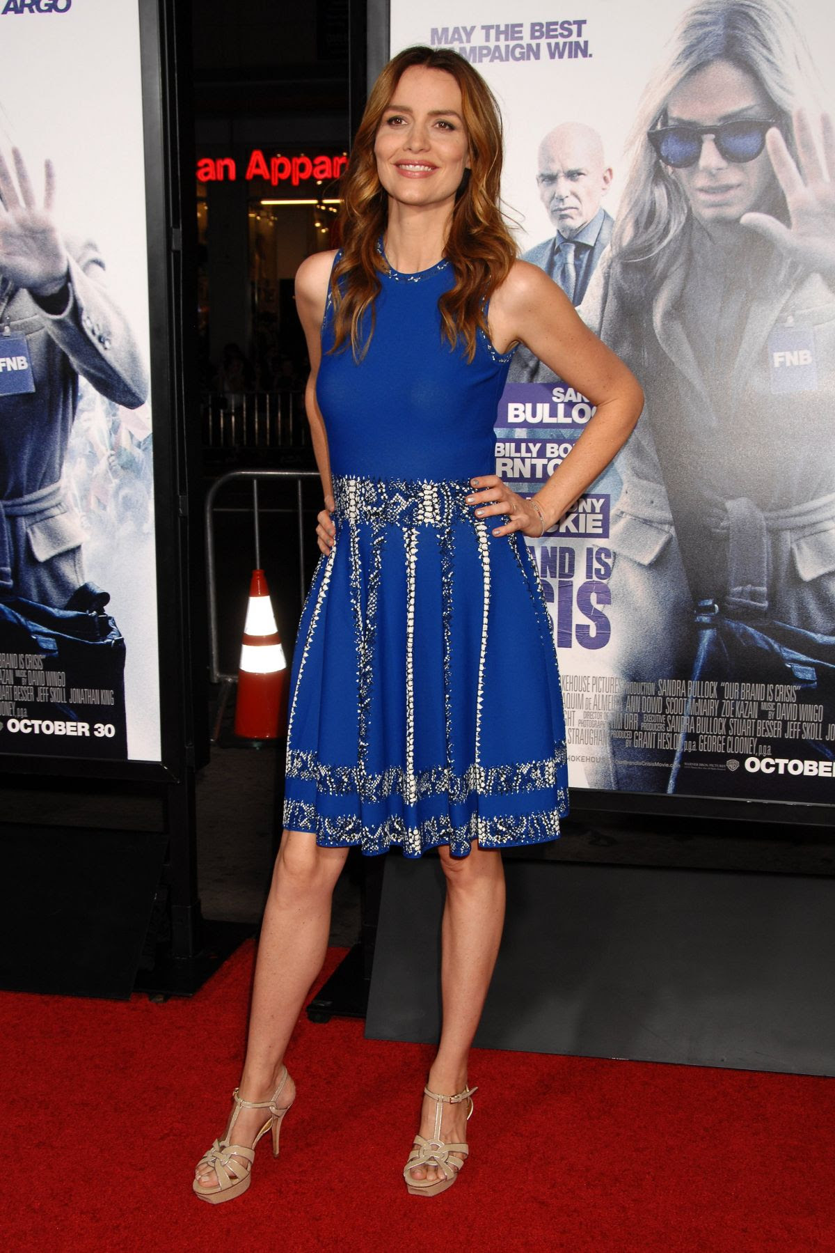 SAFFRON BURROWS at Our Brand Is Crisis Premiere in Hollywood 10/26/2015