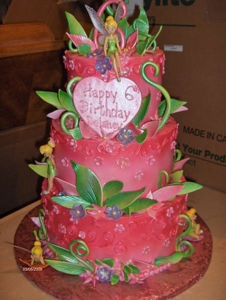 Pink Tinkerbell Cake