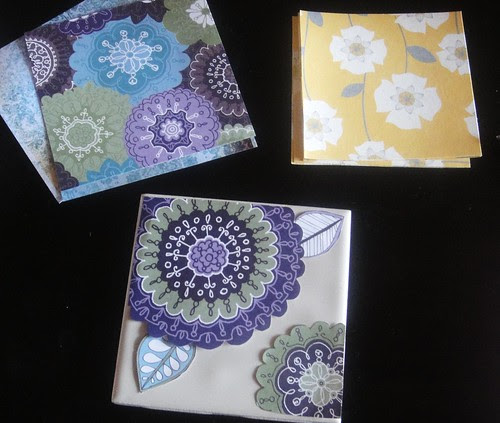 Cut out paper for tile coasters