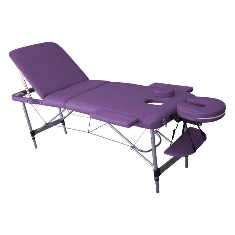 Table De Massage N3p Violette Aluminium Trois Plans Zones Ogalbe Viala