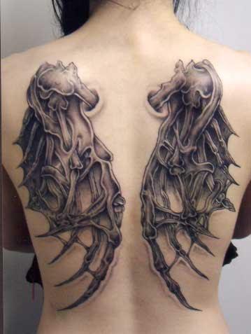 Gothic Angel Demon Wings Full Back Tattoo Design For Men Tattoomagz
