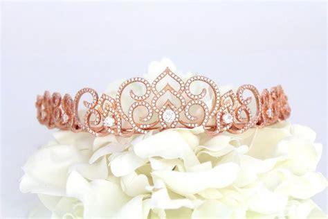 Bridal Tiara, Rose Gold Tiara, Wedding Headpiece, Bridal