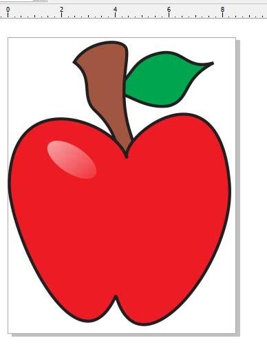 gambar sketsa apel
