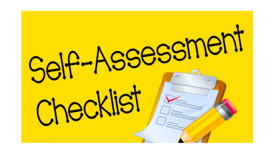 Image result for self assessment checklist