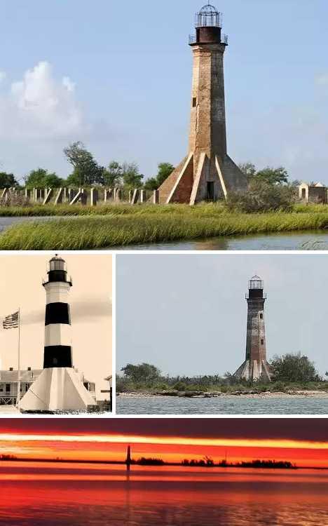 Sabine Pass Lighthouse Louisiana abandoned