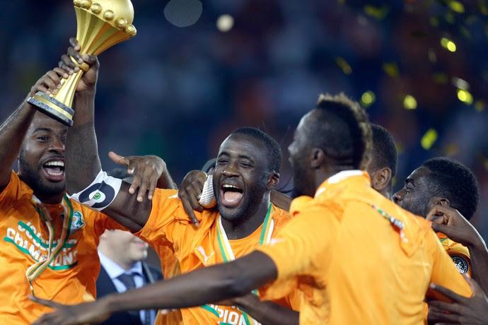 Costa do Marfim bate Gana nos penáltis e é campeã africana (Foto: AP)