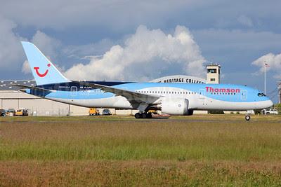 Thomson Airways Boeing 787-8 Dreamliner G-TUIC (msn 34424) PAE (Nick Dean). Image: 912551.
