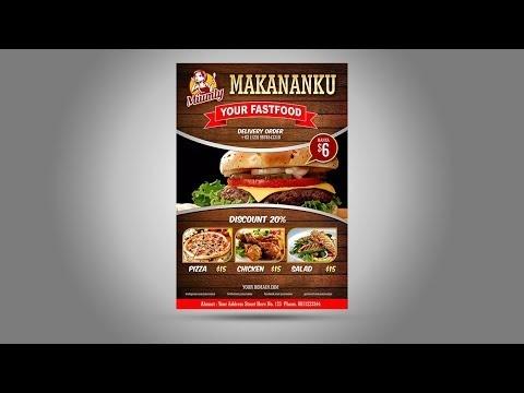 Contoh Banner Makanan Coreldraw - desain spanduk keren