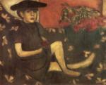 Marc Chagall.  Rapariga em um sofá (Mariaska).